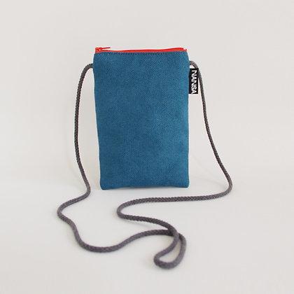 Funda de móvil (azul intenso-crem. naranja)