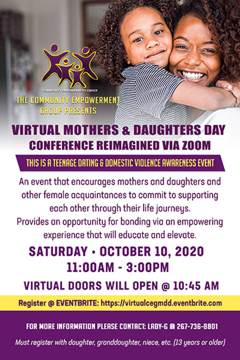 CEG Virtual Mother Daughters Conf 10-10-