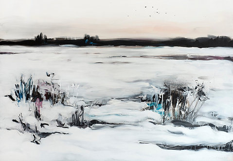 Kostya Koposov. The field covered in snow, 2016
