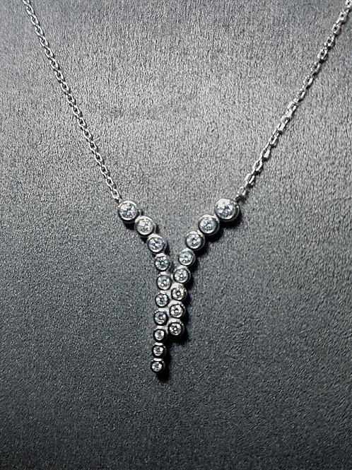Collier réglable en argent avec zirconium