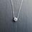 Thumbnail: Collier réglable zirconium et argent