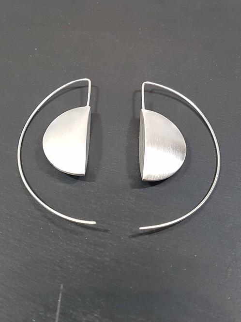 Boucles d'oreilles demi-lune satinée