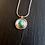 Thumbnail: Collier argent et turquoise ronde