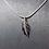 Thumbnail: Pendentif plume en argent serti