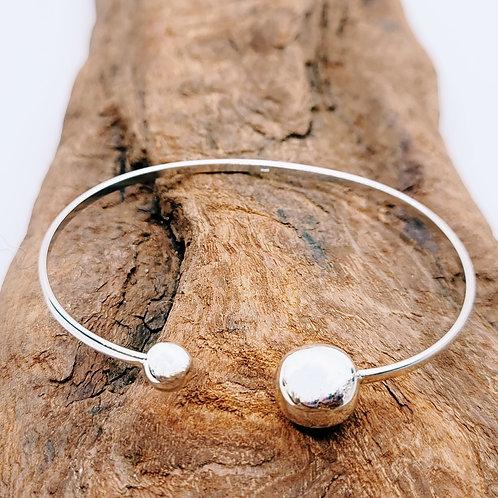 Bracelet asymétrique en argent