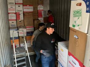Container hulpgoederen voor Jordanië