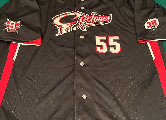 SJ Cyclones #55 Full Button Down Jersey
