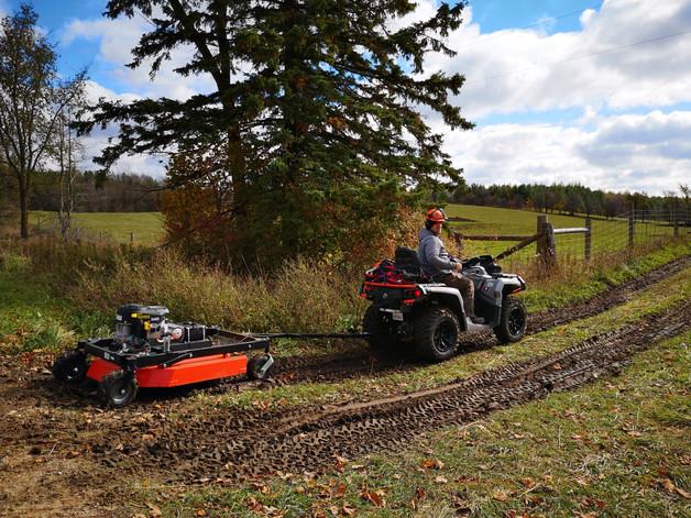 ATV with Mower Fence Line