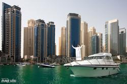 ОАЭ, Дубай, рекламная съёмка яхт