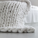 Knit Blanket to convey healing from low self worth through counseling