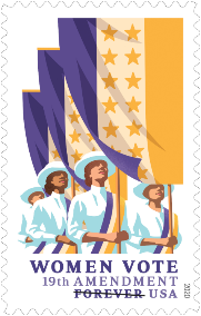 New Forever Stamp Commemorates the Suffrage Centennial