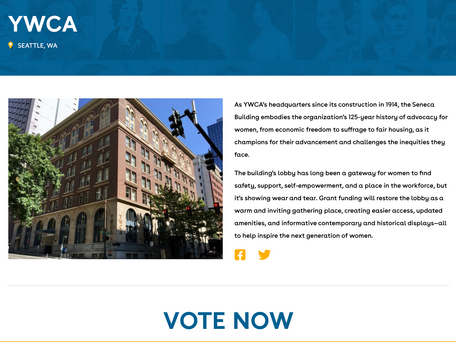 Vote for Seattle's YWCA in National Geographic Contest!