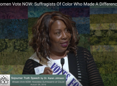 """Women Vote NOW: Honoring Suffragists of Color Who Made a Difference"" event available on YouTube!"