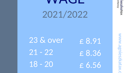 National Minimum Wage for Tax Year 2021/2022