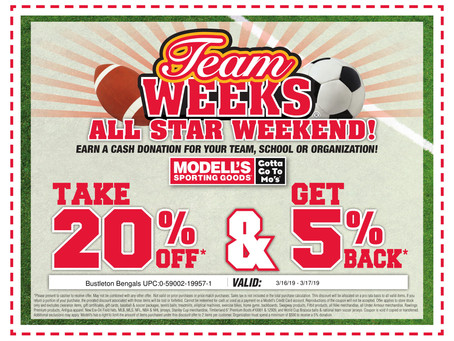 One weekend only!  20% OFF March 16th & 17th