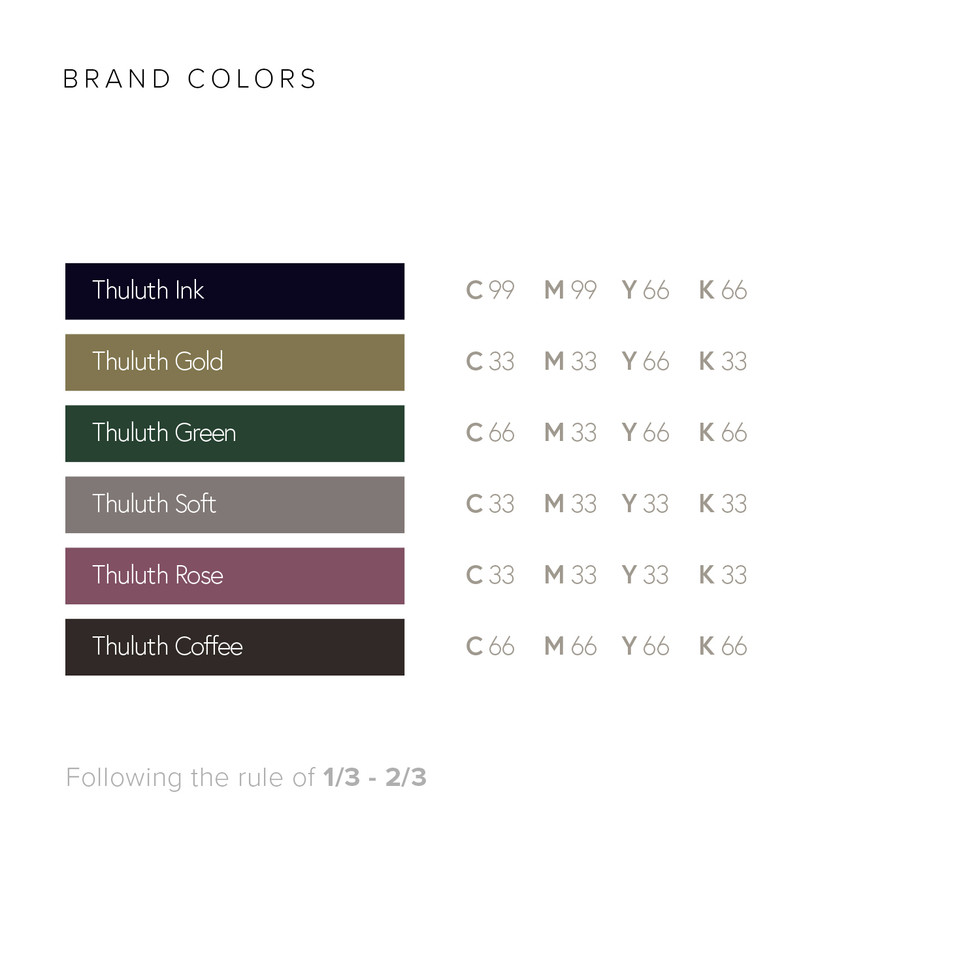 Thuluth Cafe Brand Colors