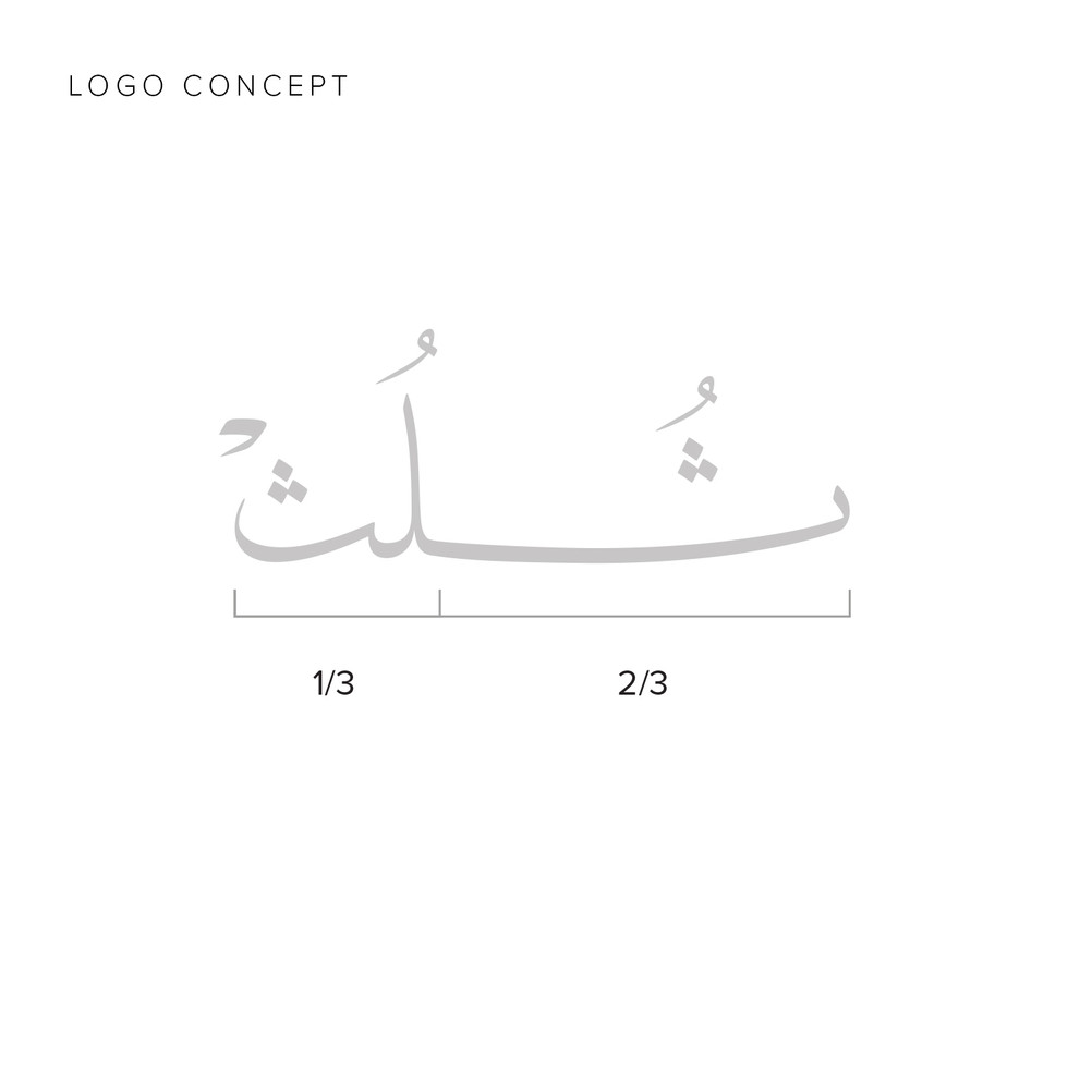 Thuluth Cafe Logo Concept
