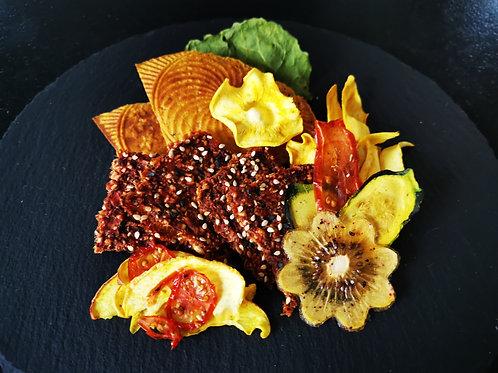 Grignote Apéro Magellan - assemblage de crackers et chips de légumes