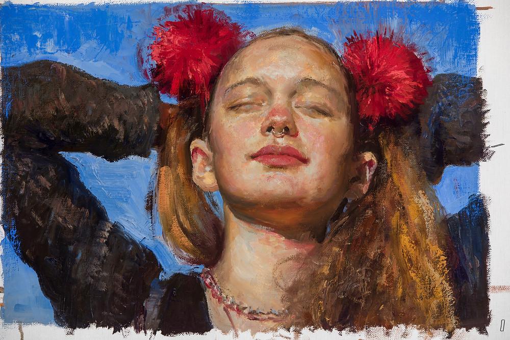 """Jonny Andviks """"Englehjerte"""" er motivet på plakaten til Mosjøen kunstforenings sommerutstilling."""