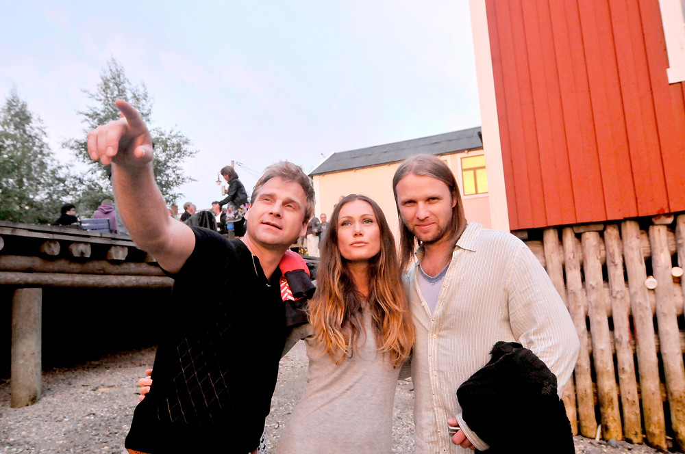Vebjørn Sand, Marianne Aulie og Aune Sand besøkte Galleria i 2010. Nå kommer de igjen. (Foto: Bjørn Asle Grimstad)