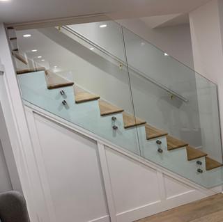 custom glass railing system
