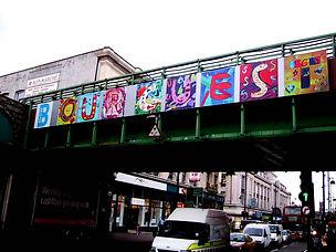 Artwork on the Railway Bridge in Brixton, London