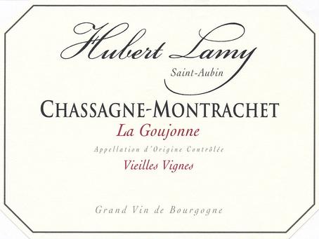 """From 60-Year-Old Vines, Hubert Lamy Chassagne-Montrachet La Goujonne VV 2014, """"Lovely Balance & Leng"""