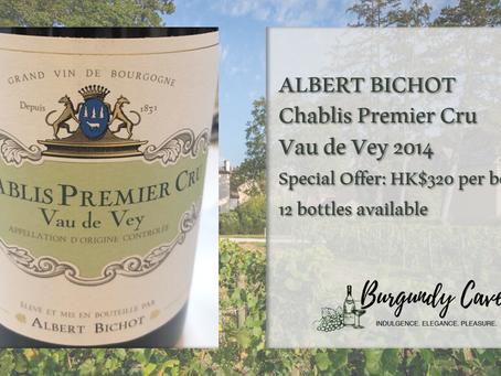 A Readily Drinking Burgundy White 2014 at Only HK$320/Bt: Albert Bichot Chablis Vau de Vey 1er Cru