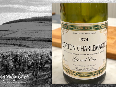 Ex-Domaine 1974 Corton-Charlemagne Grand Cru from Pierre de Crillon at HK$880/Bt Only
