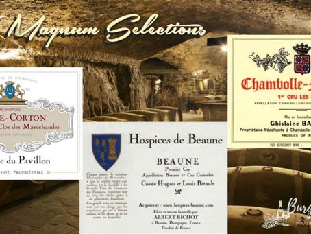 Selection of Magnums: 2003 HDB Albert Bichot, 2004 Ghislaine Barthod & 2015 Albert Bichot