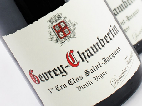 """96pts AG Fourrier Gevrey-Chambertin Clos St-Jacques 2008 """"Marvelous Tension & Energy"""""""