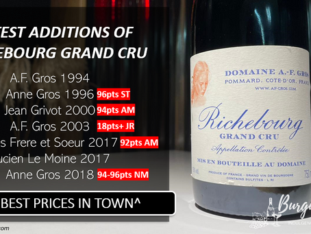 RICHEBOURG GRAND CRU: Latest Additions of 1994-2018 at Best Prices in Town!