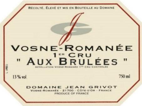 "94-96pts Jean Grivot Vosne-Romanee Les Brulees 1er Cru 2017 ""Very Seductive"""