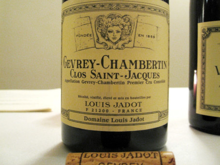 Special Offer! 93pts NM Louis Jadot Gevrey-Chambertin Clos St-Jacques 1er Cru 2013 at HK$950/Bt