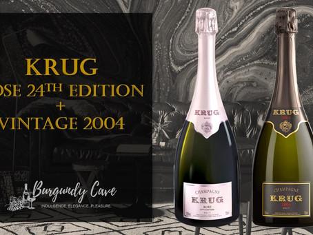 Immediately Available! KRUG Vintage 2004 and Rosé 24ème Édition from HK$1,850/Bt