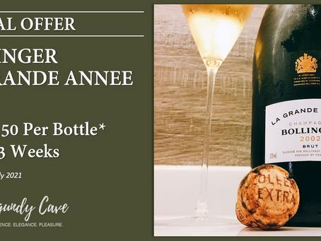 "Special Offer! JS97pts BOLLINGER La Grande Annee 2002 ""Terrific Freshness and Fragrant Lift"""