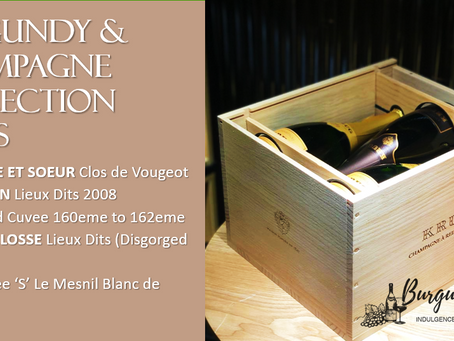 Burgundy & Champagne Collection Cases: Gros F&S, Selosse, Salon, Krug & Jacquesson
