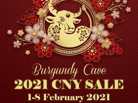 CNY SALE! Bordeaux 1922-2009: Starting from HK$185/Bt+ (Valid Until: 8th February, 2021 Noon)