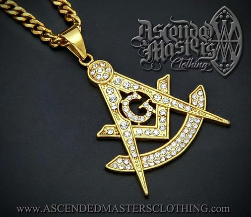 GOLD MASONIC PAST MASTERS PENDANT