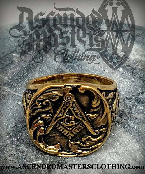 GOLD MASONIC RING 0024