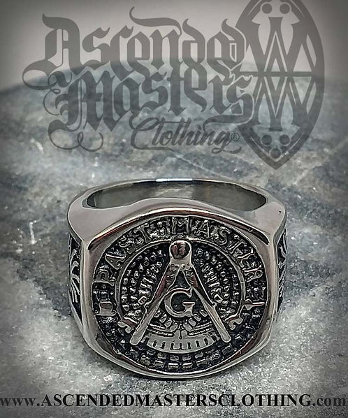 SILVER PAST MASTER RING 0005