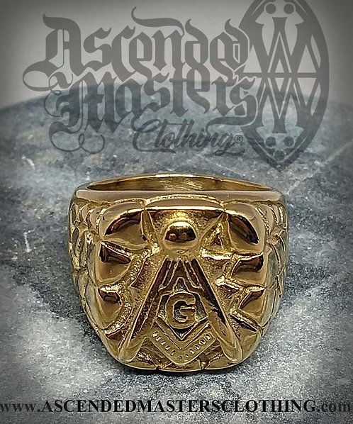 GOLD NUGGET MASONIC RING 0001