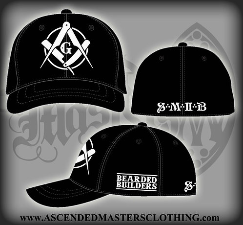 THE BEARDED BUILDERS Fitted FlexFit Baseball Hat