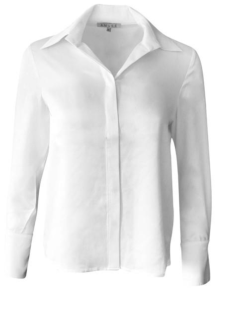 Klassisk skjortebluse silke nr 3104