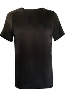 AMUSE SILKE T-SHIRT BLACK  FRA AMUSE BY VESLEMØY