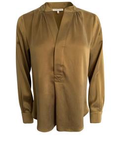 Silkeskjorte med utrigning vnr 7101 fra Amuse by Veaslemøy