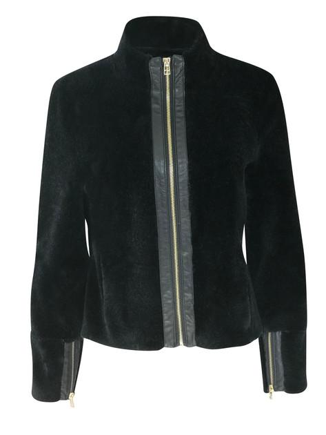 Kort jakke med glidlås nr 3123