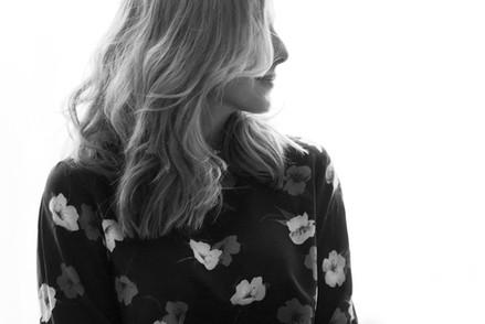 Blomsterprint silkebluse