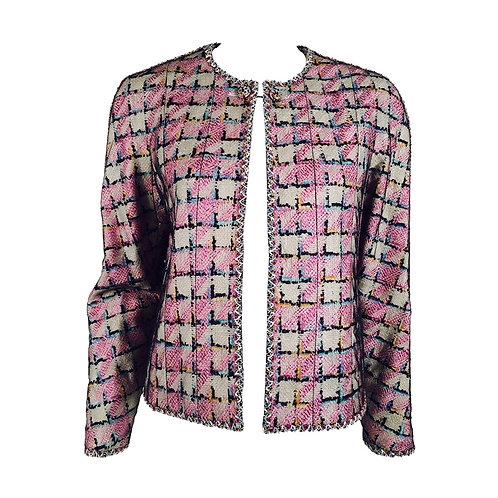 1998 Chanel Cruise Collection Jacket With Net Overlay
