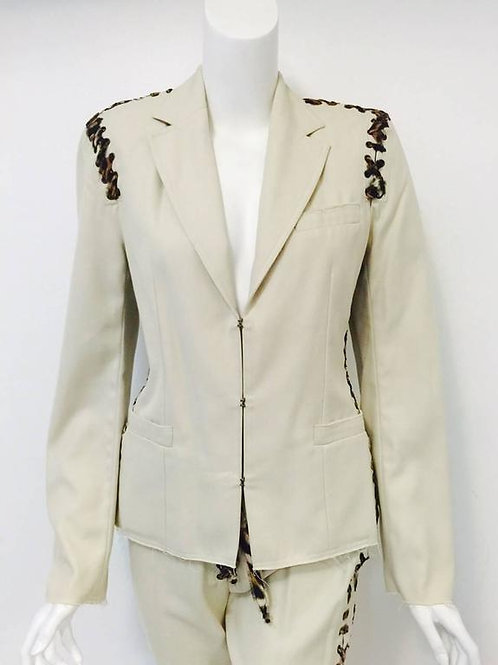 Iconic 2002 Tom Ford for Yves Saint Laurent Rive Gauche Mombasa Pant Suit